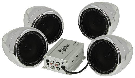 Boss mc470b impianto stereo per moto da 1000 w e 4 speaker - Impianto stereo da camera ...