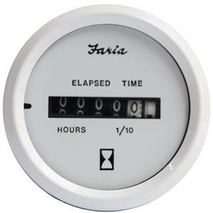 Faria 13121 Series Dress White: Engine Hour Meter